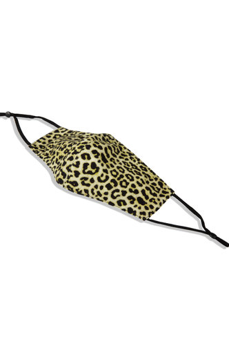 front_Non-medical Leopard Print Reusable Face Mask