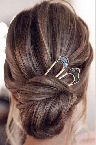 front_Inge Elma Gold Geo Decor Hairpin 2pcs