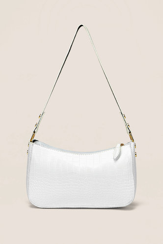 front_Zola Ella White Shoulder Bag