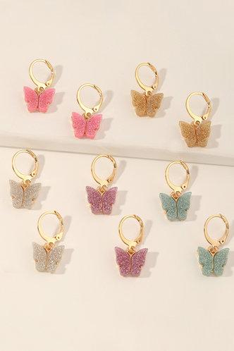 front_Inge Eleanore Gold Butterfly Drop Earrings