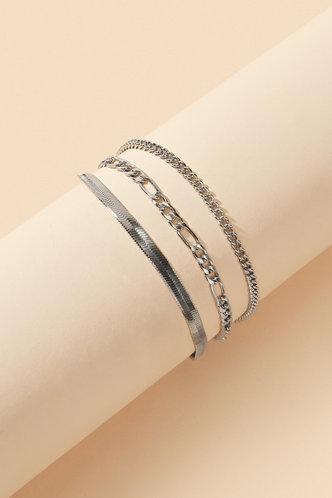 back_Madge Eileen Sliver Simple Chain Bracelet