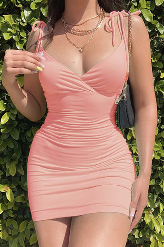 front_Lena Emma Baby Pink Dress