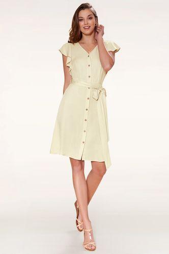 front_Expressive Apricot Midi Dress