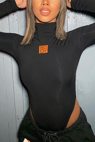 front_Reese Eartha Black Bodysuit
