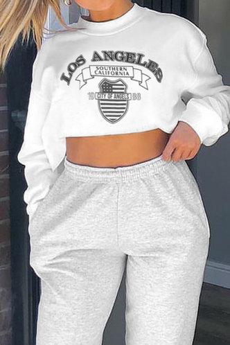 back_Marge Eileen White Crop Sweatshirt
