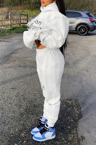 back_Pullover White Pants Sets