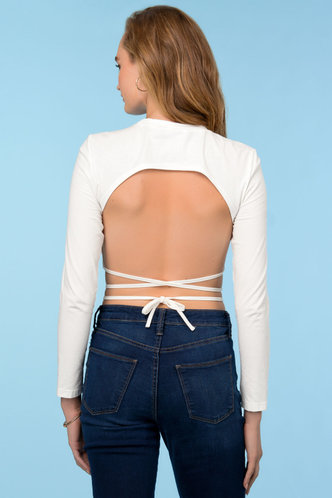 back_Simply The Best {color} Crop Top