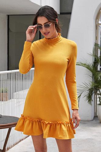 front_Caroline Eden Yellow Dress