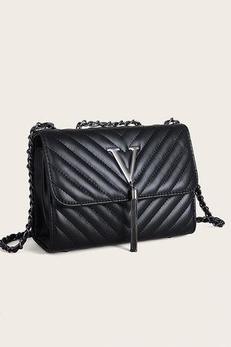 back_Doris Elsa Black Crossbody Bag