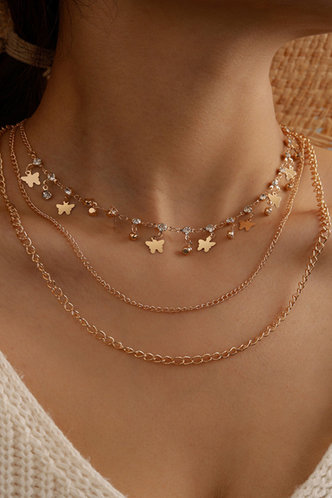 front_Anslow Eleanore Gold Star Charm Layered Necklace
