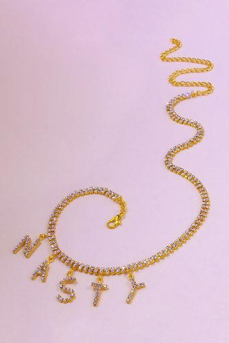 back_Faithe Kuvan Gold Rhinestone Charm Anklet Chain