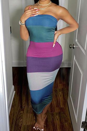 front_Kaley Emily Colorblock Tube Bodycon Dress