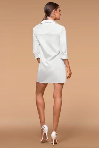 back_Wait For The Morning White Mini Dress