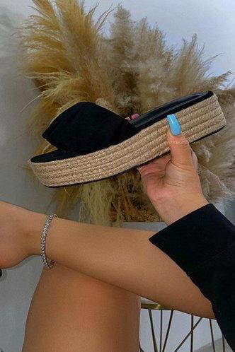 front_Geraldine Mehhkaprad Black Espadrille Platform Sandals