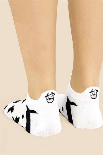 front_Holly Elma Cow Print Socks 2pairs