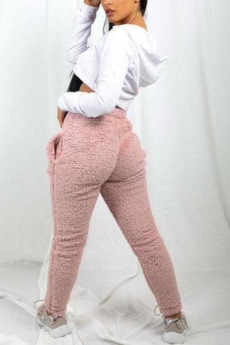 back_High Waist Letter Pink Sweatpants