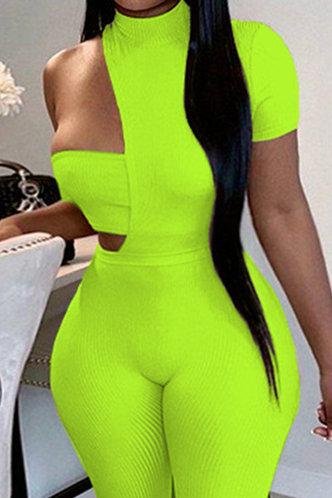 back_Michaela Elma Lime Yellow Jumpsuit