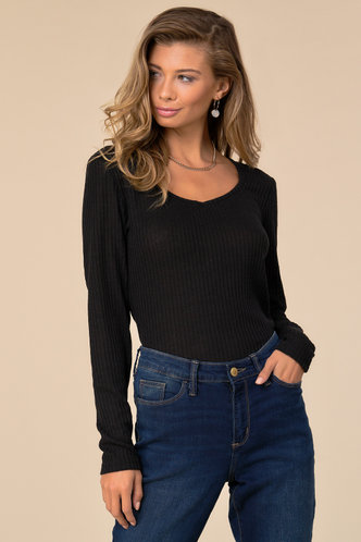 front_Back To Basics Black Solid Tee