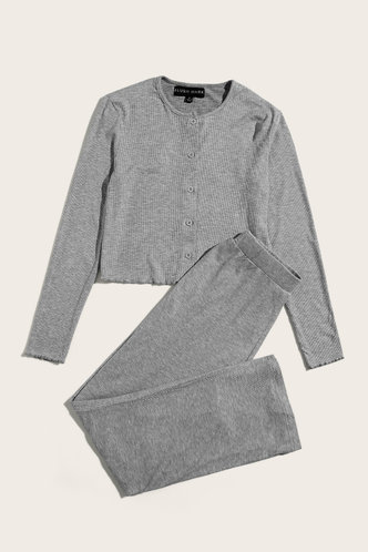 back_Just Wow Grey PJ Set