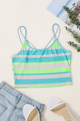 back_Belle Glaving Striped Cami Crop Top
