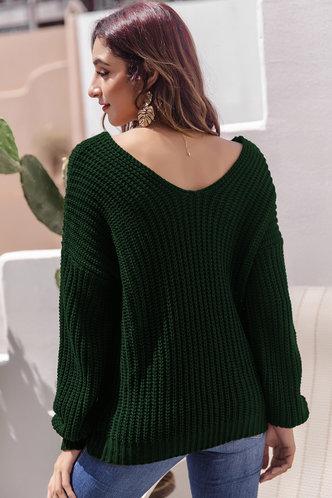 back_Ona Dark Green Sweater