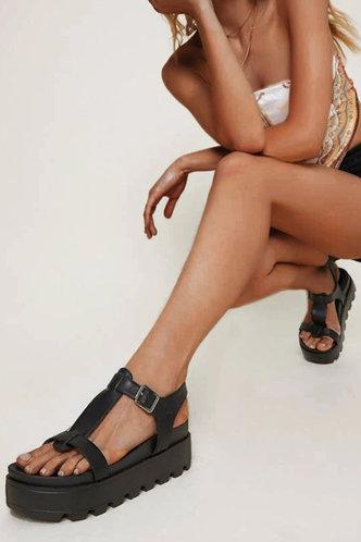 back_Erin Hakil Black Minimalist Platform Slingback Sandals