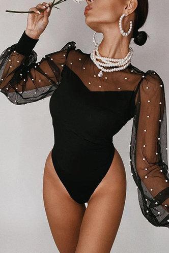 front_Hattie Black Bodysuit
