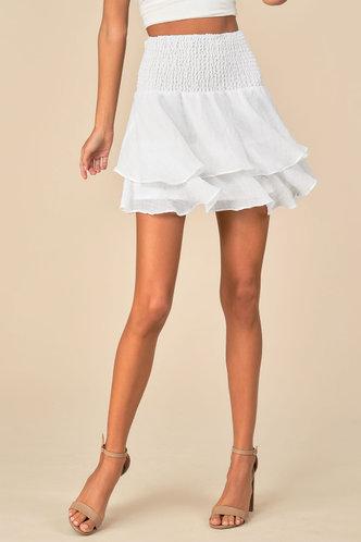 front_Gabrielle Elaine White Skirt