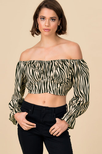 back_Zebra Love Leopard Print Crop Top