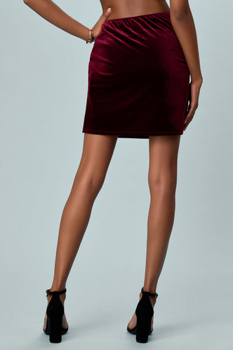 back_Best Behavior Burgundy Skirt