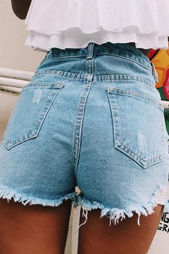 back_Fanny Eileen Wash Blue Shorts