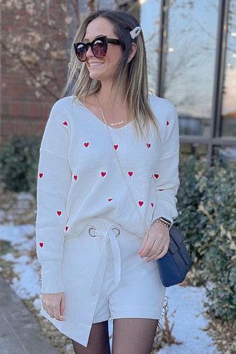 front_Asymmetrical Wonder White Wrap Shorts