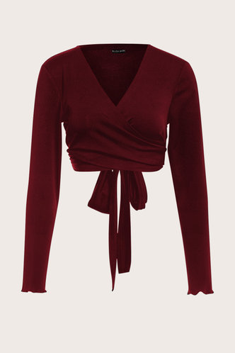 front_Bridget Terry Burgundy Top