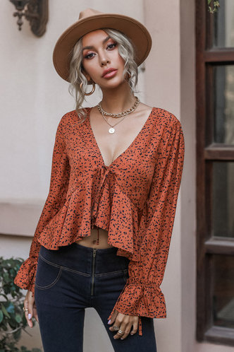front_Alice Eileen Burnt Orange Blouses