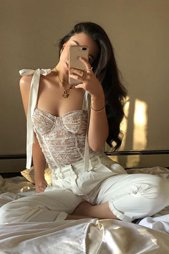 front_Querida White Bustier