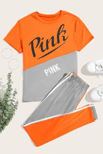 back_Hilary Erica Orange And Grey Pants Set