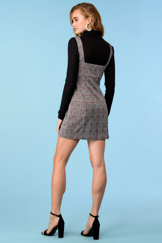 back_Over It Grey Plaid Overall Dress