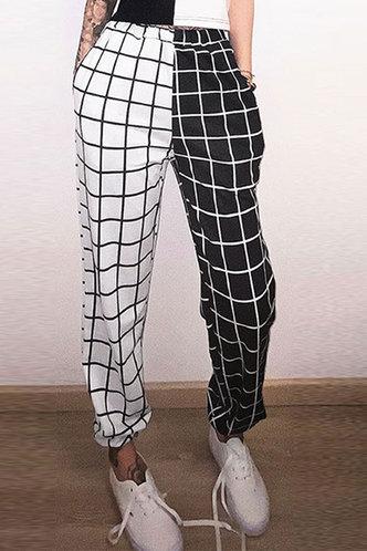 back_Marta Black And White Plaid Pants