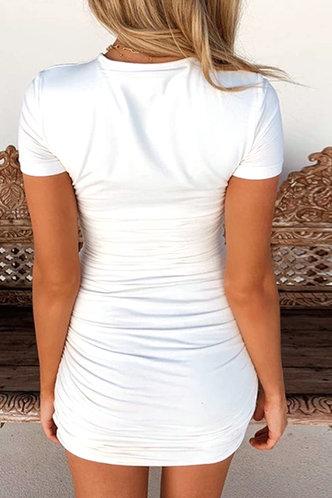 back_Clemmie Edwina White Ruched Dress