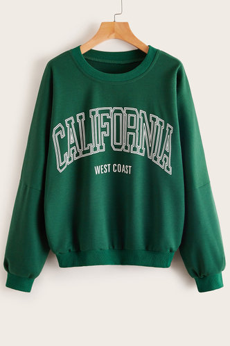front_Rose Dark Green Sweatshirt