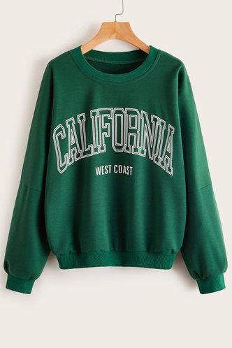 front_Rose Dark Green Pullover