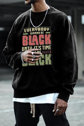 front_Casual Letter Black Men Sweatshirts & Hoodies