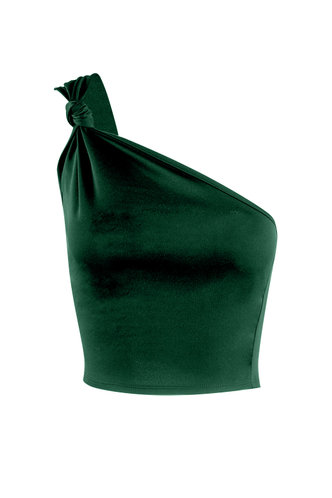 front_Goddess Forest Green Sleevess Top