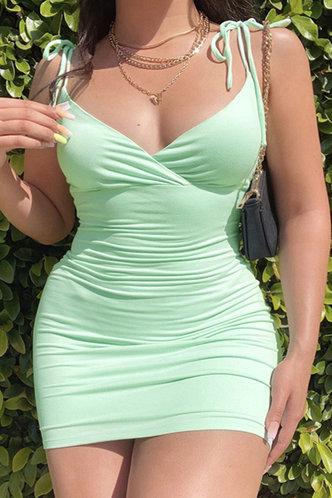 front_Serena Elizabeth Mint Green Plus Cami Bodycon Dress