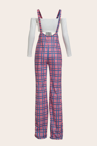 back_Linda Eartha Pink Plaid Set