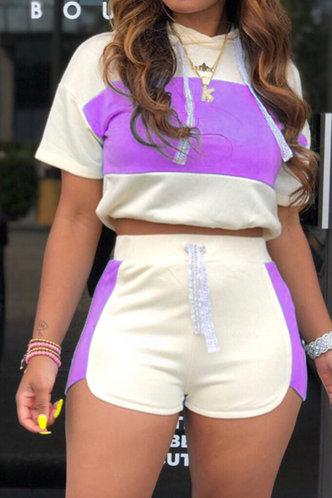 front_Griselda Karlan Purple And Beige Set