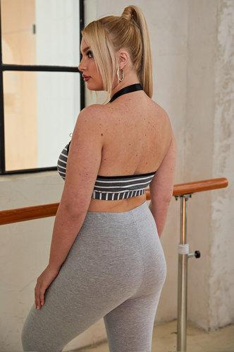 back_Lenora Eden Black And White Stripe Plus Crop Top