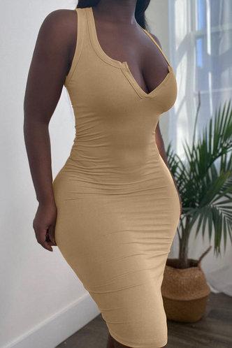 front_Germaine Eve Khaki Dress