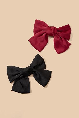 back_Leona Eartha Black And Red Hair Clip 2pack