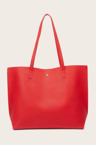 back_Tessie Elvira Red Tote Bag